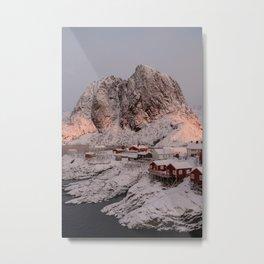 Hamnøy Winter Sunrise Metal Print