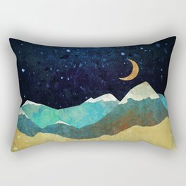 Snowy Night Rectangular Pillow