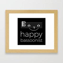 Happy bassoonist (dark colors/tenor clef) Framed Art Print