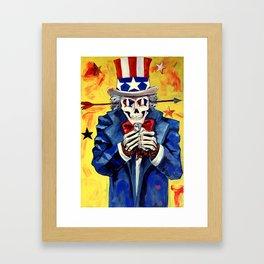 Uncle SAM P.O.W Framed Art Print