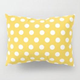 White Polka Dots on Yellow Pillow Sham
