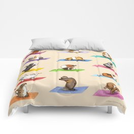 The Yoguineas - Yoga Guinea Pigs - Namast-hay! Comforters
