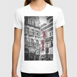 Red Harry Caray's Black and White Chicago Photography T-shirt