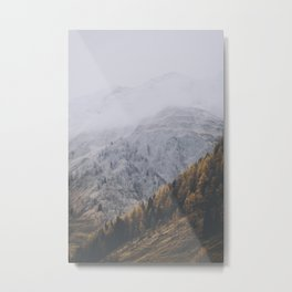 Winter transitioning to fall in South Tyrol Metal Print