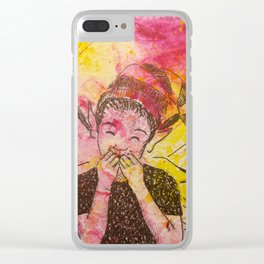 A Case of the Giggles ( Laughing Fairy ) Clear iPhone Case