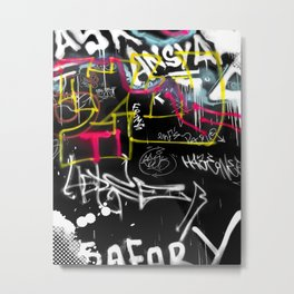 New York Traces - Urban Graffiti Metal Print