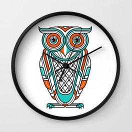 Art Deco Owl Wall Clock