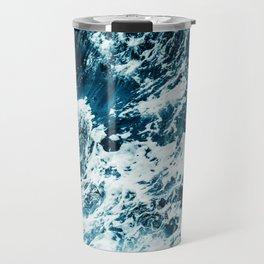 Disobedience - ocean waves painting texture Travel Mug