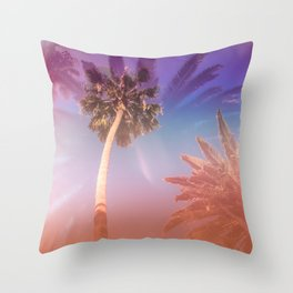 Palm Trees Kissing the Sky Throw Pillow