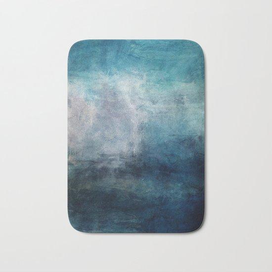 Beach in Blue Bath Mat