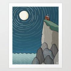 House on a Cliff Art Print