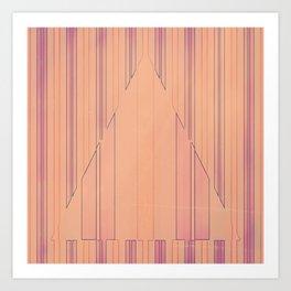 Strip to Stripe Me Down Art Print