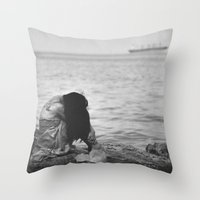 alone Throw Pillows featuring Alone  by PhotoStories