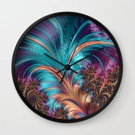 Feather Fractal Art Wall Clock