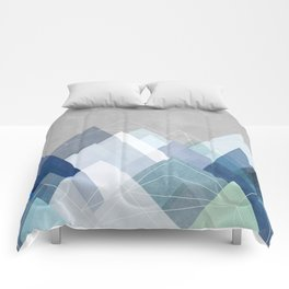 Graphic 107 X Blue Comforters