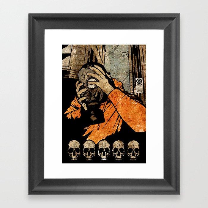 Leroy And The Five Dancing Skulls Of Doom Framed Art Print