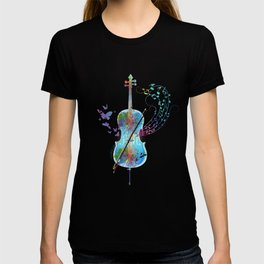 Butterfly Cello Instrument T-shirt