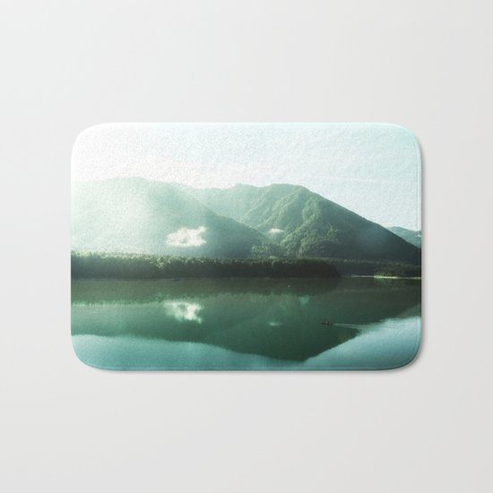 Peaceful lake Bath Mat