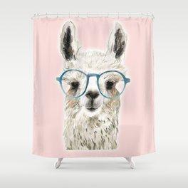 Eyeglasses lama Shower Curtain