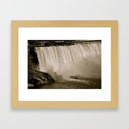 3 Gulls in the Deluge Framed Art Print