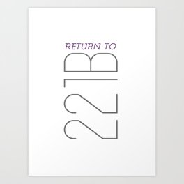 Return to 221B Art Print