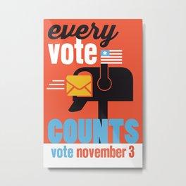 Every Vote Counts Metal Print