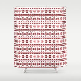 Christmas Stitch Shower Curtain