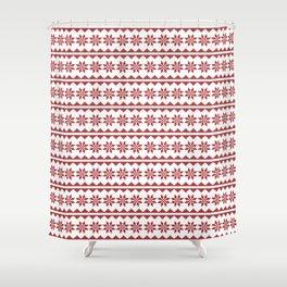 Christmas Stitch Shower Curtain