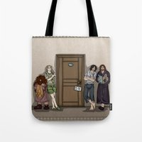 aragorn Tote Bags featuring Rise and Shine by wolfanita