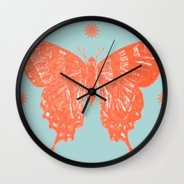 Star Anise Butterfly  Wall Clock