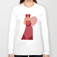 moulin rouge Long Sleeve T-shirts featuring Rouge by KH Illustrations