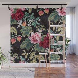 Noir Flower Pattern Wall Mural
