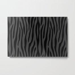 Black And Grey Zebra Design Metal Print