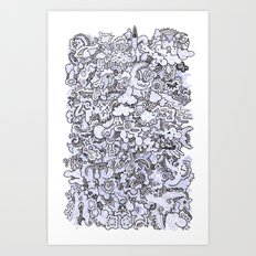 Night World (Original) Art Print