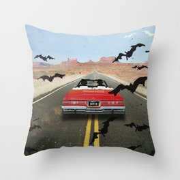 Fear and loathing las Vegas travel movie art Throw Pillow