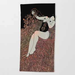 Weight of Ribbons Beach Towel