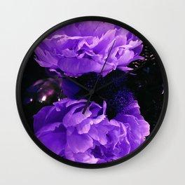 Peony Ultra Violet Wall Clock