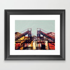 New York fire escapes Framed Art Print