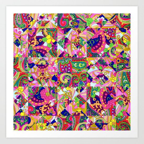 60's Crown of Thorns Quilt Art Print
