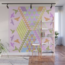 Patterns, Birds and Pastels Wall Mural