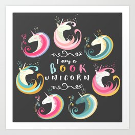 Book Unicorn Art Print