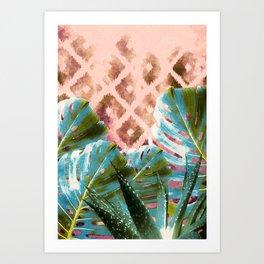 Tribal tropic Art Print