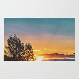 Horse Sunrise (Color) Rug