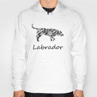 labrador Hoodies featuring Labrador Scribble by Jake Stanton
