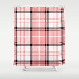Pink Tartan Shower Curtain