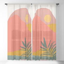 Tropical Landscape Sheer Curtain