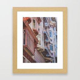 San Fran Condos. Framed Art Print