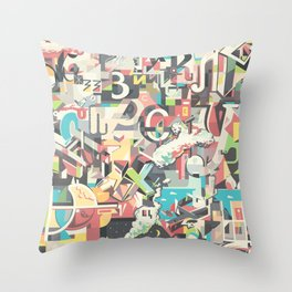 Cyrillic alphabet Throw Pillow