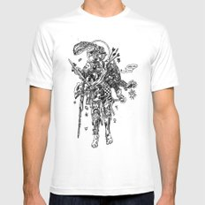 Knight (Ascension) White Mens Fitted Tee MEDIUM