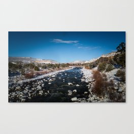 Chama River in Snow Canvas Print